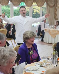 Tenor singing waiter hire